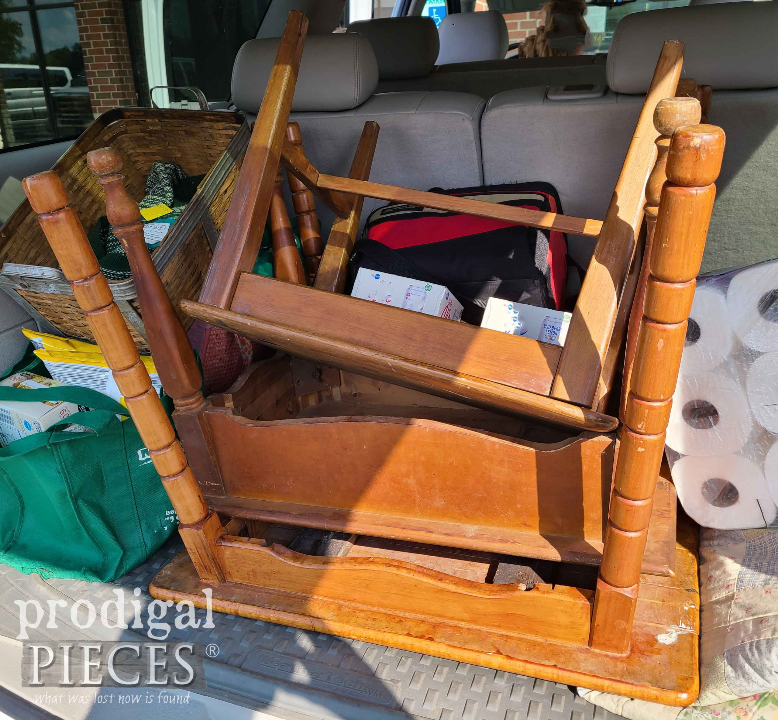 Stack of Thrifted Tables | prodigalpieces.com