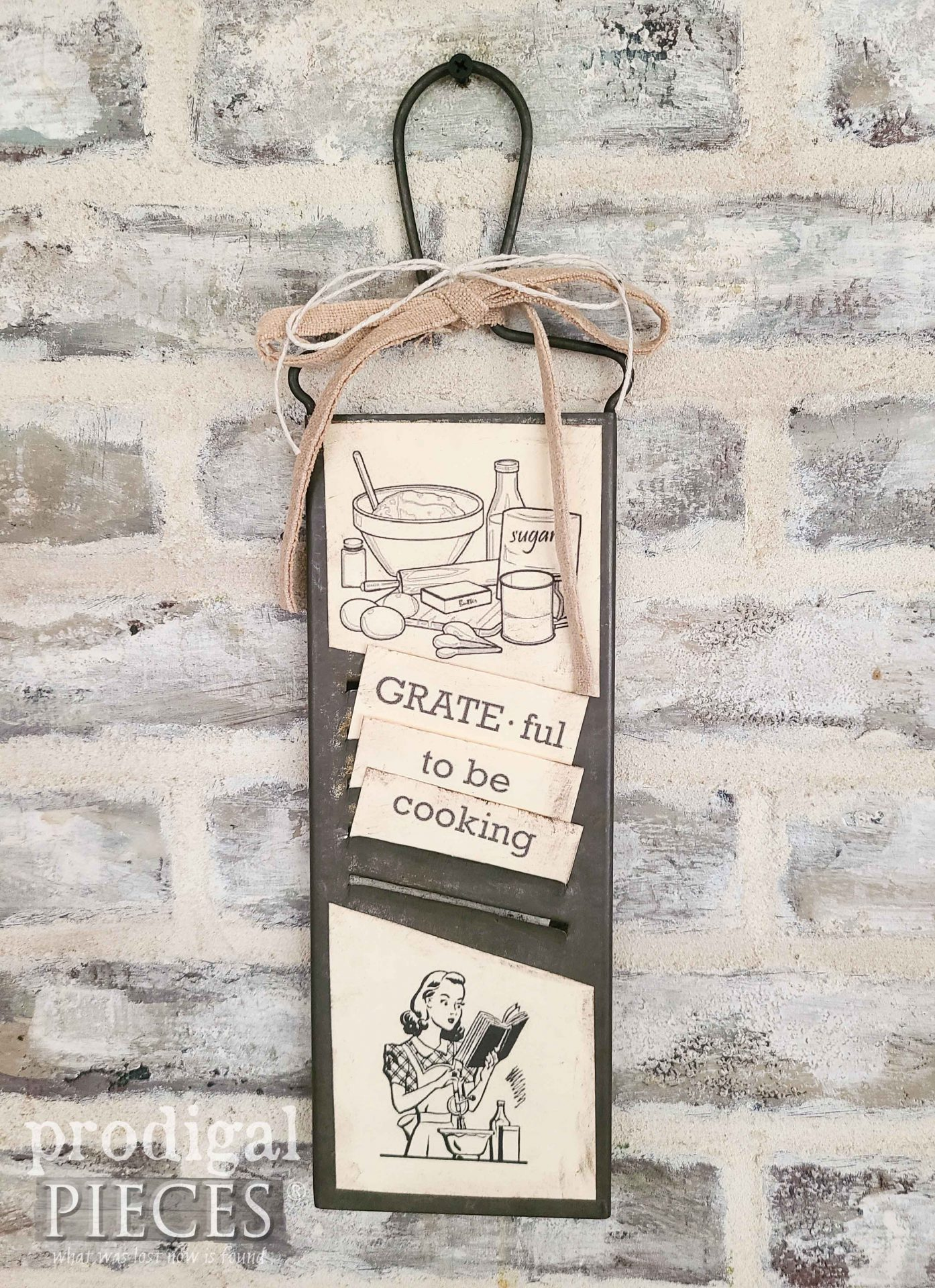 Upcycled Antique Grater for Kitchen Decor by Larissa of Prodigal Pieces   prodigalpieces.com #prodigalpieces #farmhouse #upcycled #home