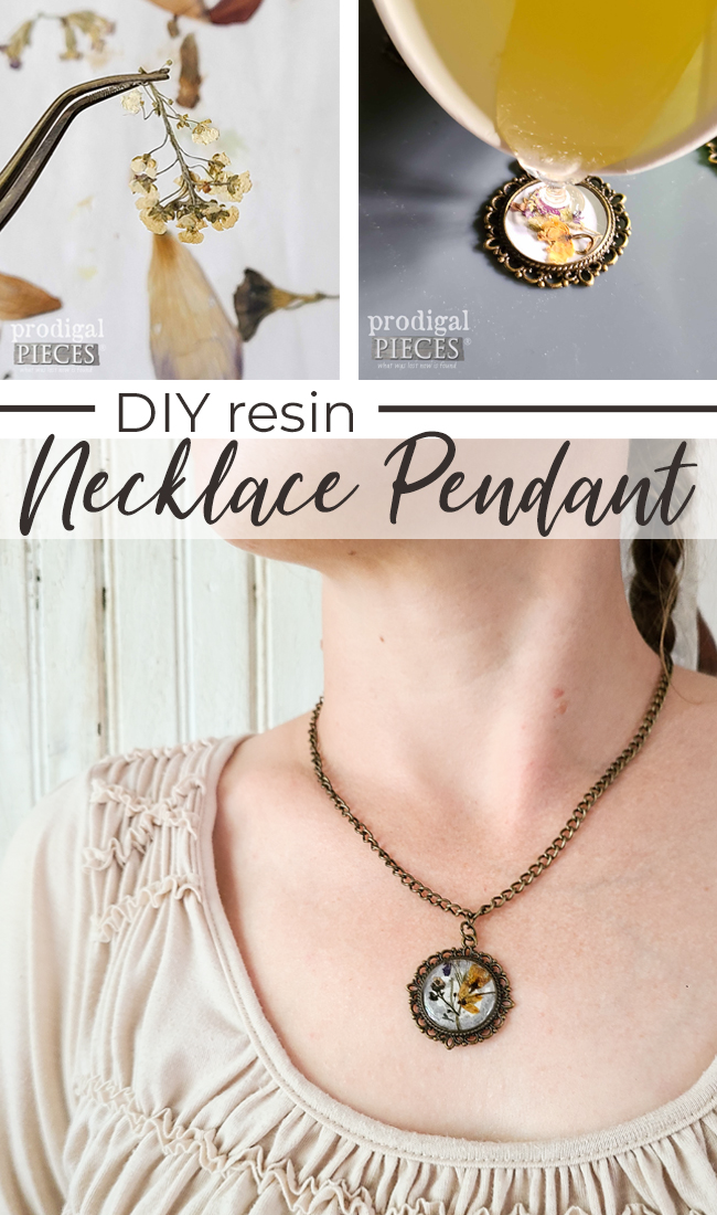 Create your own handmade gifts with this DIY Resin Necklace Pendant Tutorial by Larissa of Prodigal Pieces   prodigalpieces.com #prodigalpieces #jewelry #handmade #christmas
