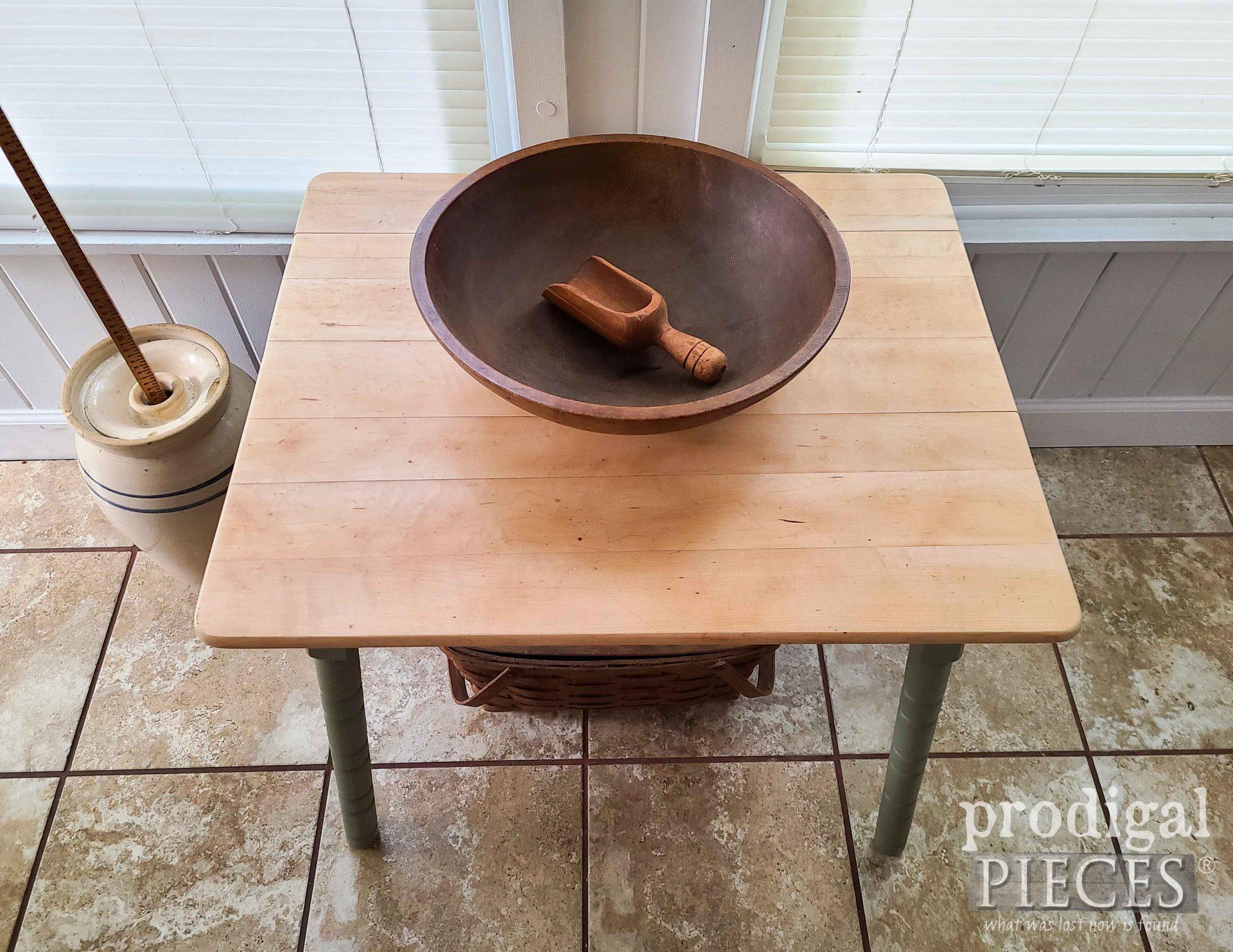 Burled Maple Mini Farmhouse Table Top by Prodigal Pieces   prodigalpieces.com #prodigalpieces #furniture #diy #maple
