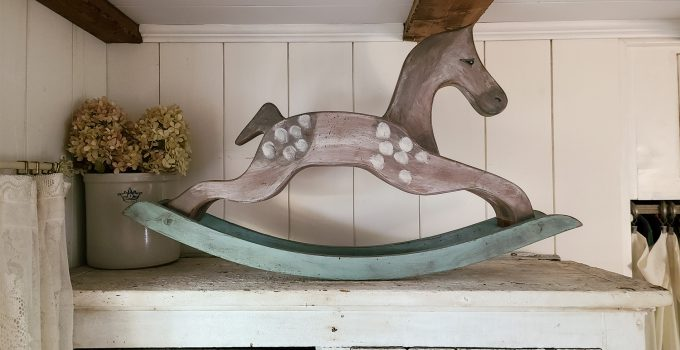 Antique Rocking Horse from Upcycled Parts