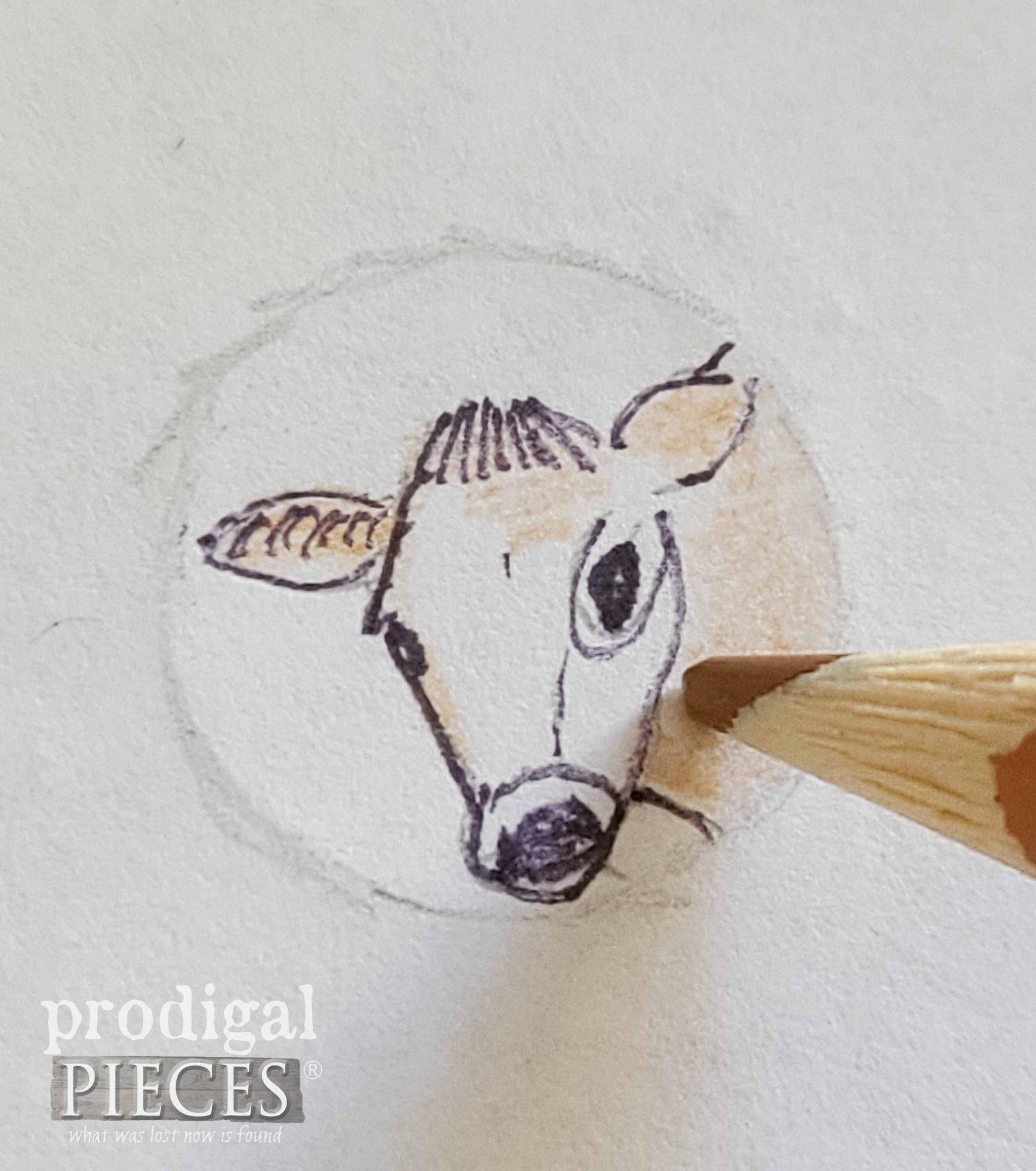 Jersey Cow Sketch by Larissa of Prodigal Pieces   prodigalpieces.com
