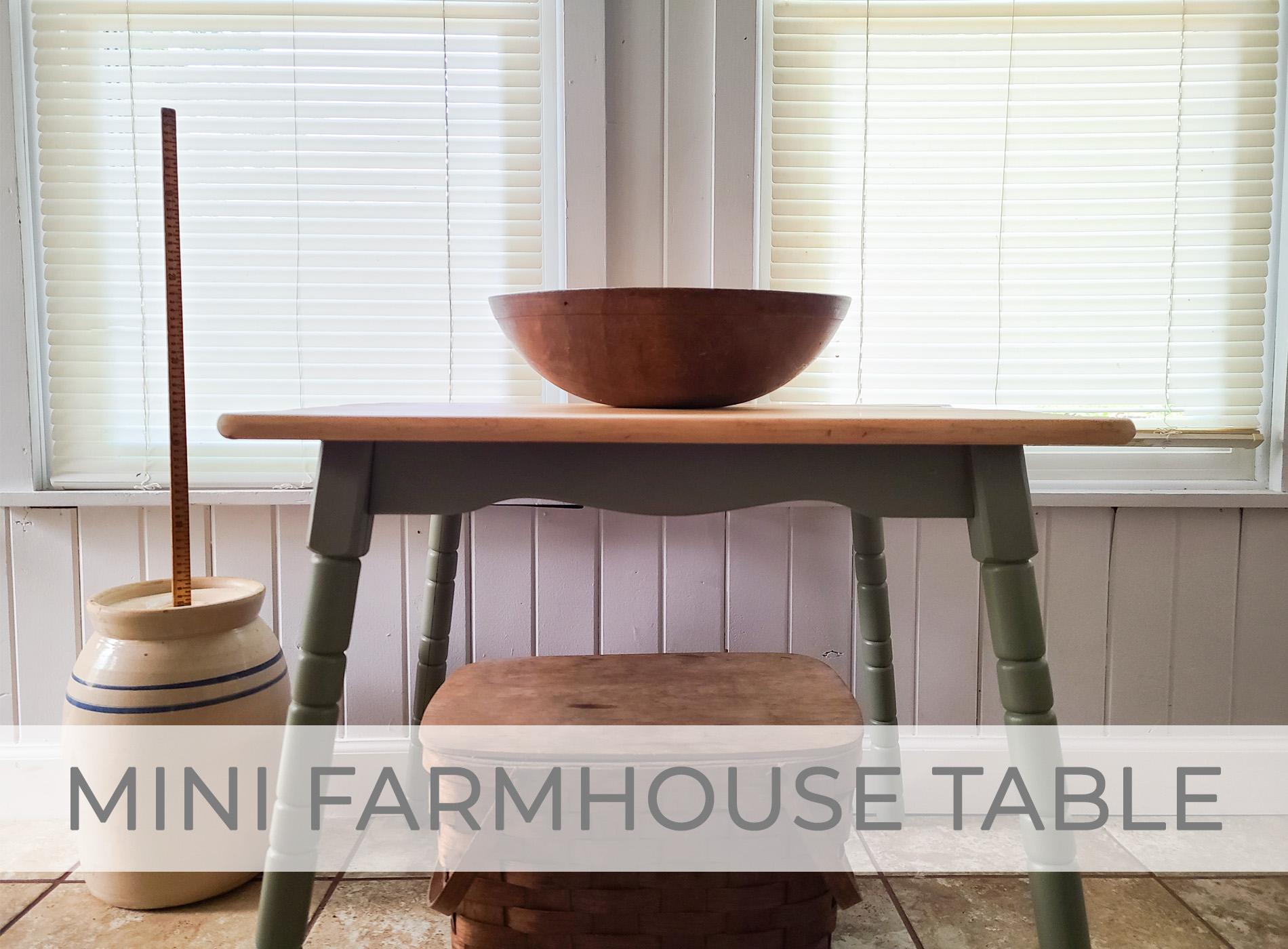 Mini Farmhouse Table Makeover by Larissa of Prodigal Pieces   prodigalpieces.com #prodigalpieces