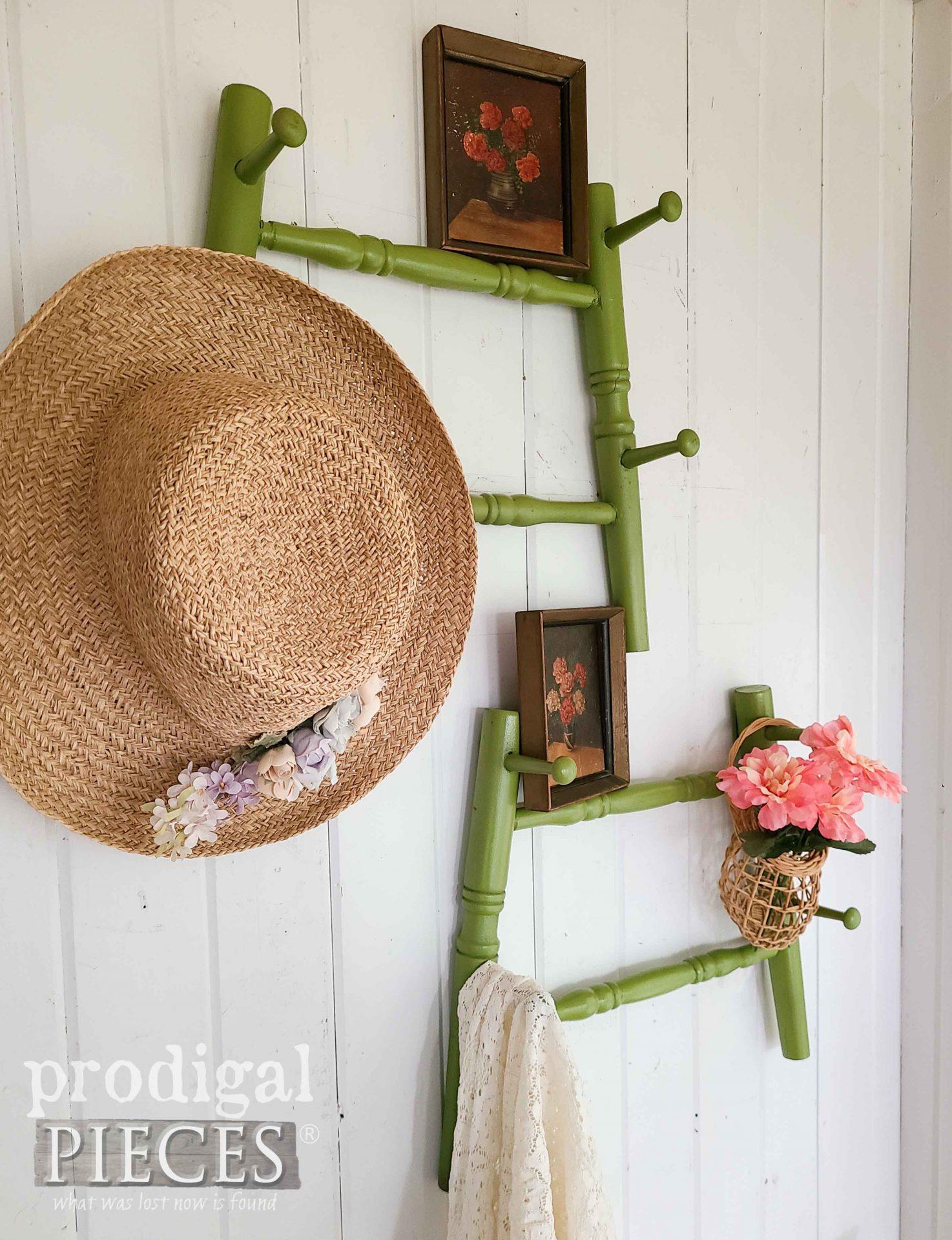 Reclaimed Bar Stool Coat Racks by Larissa of Prodigal Pieces   prodigalpieces.com #prodigalpieces #reclaimed #diy #home #furntiure