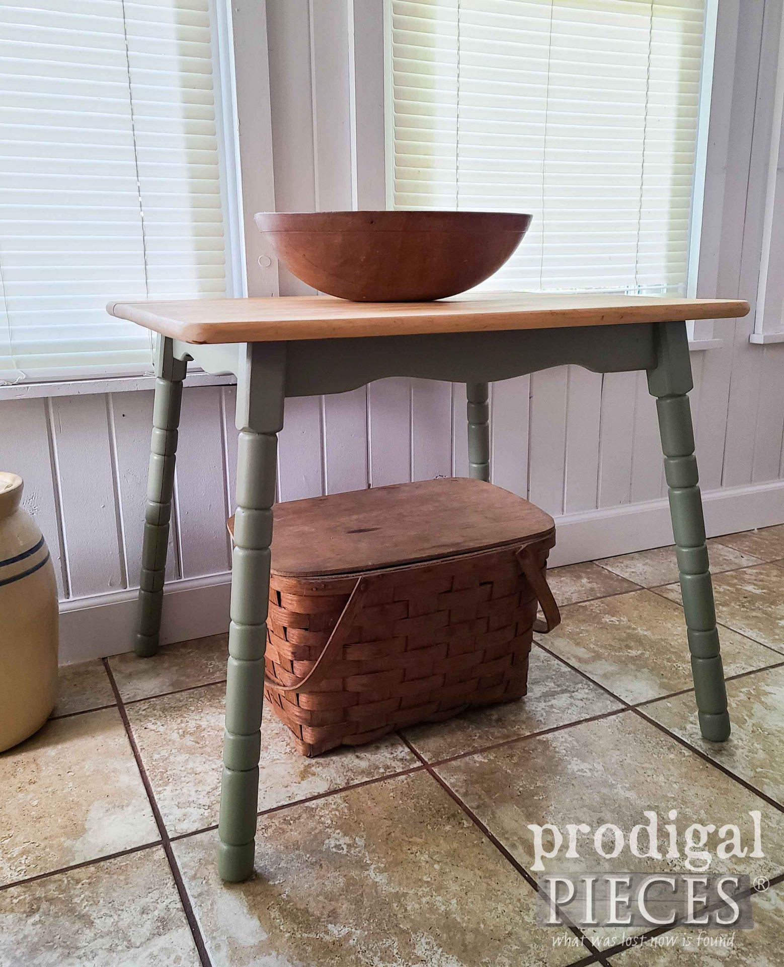 Rustic Mini Farmhouse Side Table by Larissa of Prodigal Pieces   prodigalpieces.com #prodigalpieces #farmhouse #home