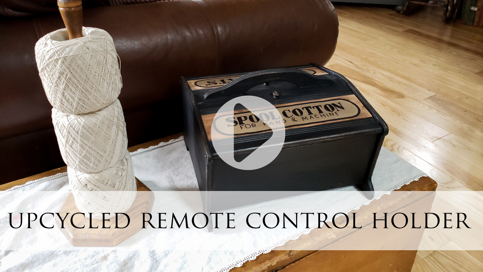 Upcycled Remote Control Holder from Sewing Box by Larissa of Prodigal Pieces | prodigalpieces.com